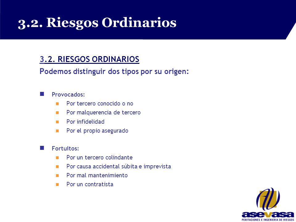 3.2. Riesgos Ordinarios 3.2. RIESGOS ORDINARIOS.2.