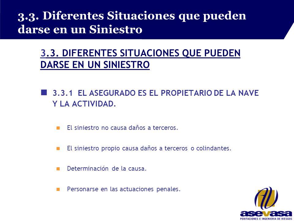 3.3. Diferentes Situaciones que pueden darse en un Siniestro 3.3.