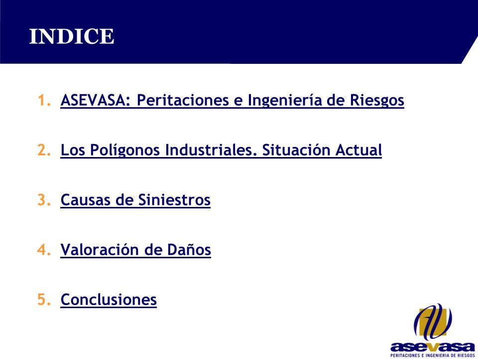 INDICE 1.ASEVASA: Peritaciones e Ingeniería de RiesgosASEVASA: Peritaciones e Ingeniería de Riesgos 2.Los Polígonos Industriales.