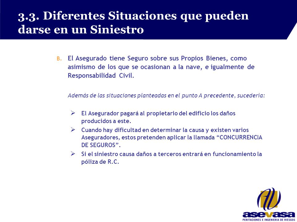 3.3. Diferentes Situaciones que pueden darse en un Siniestro B.