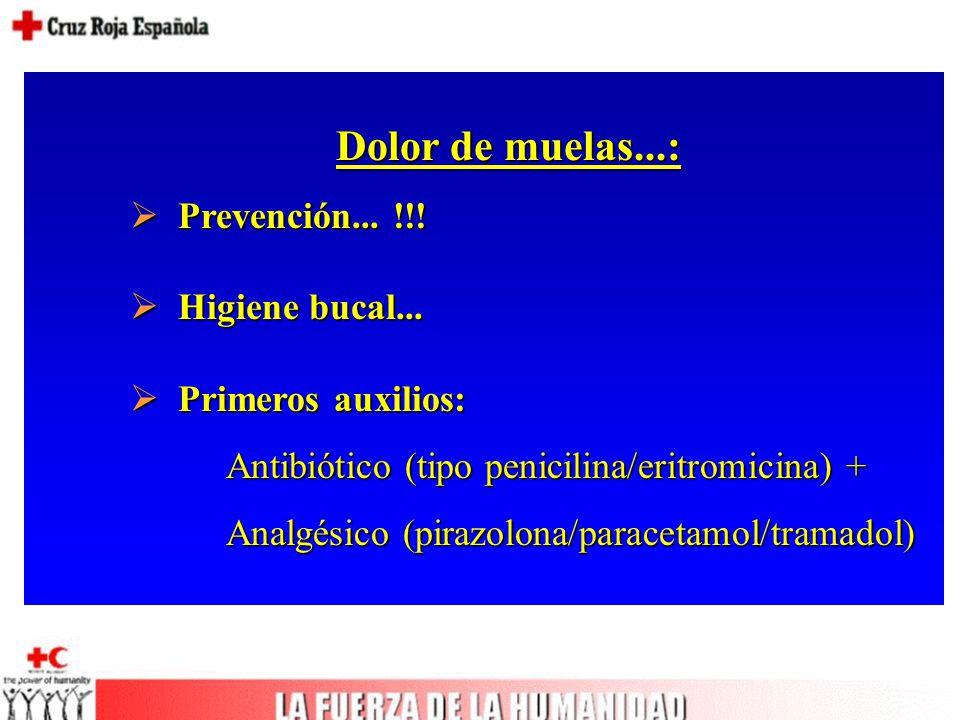 Dolor de muelas...:  Prevención... !!.  Higiene bucal...