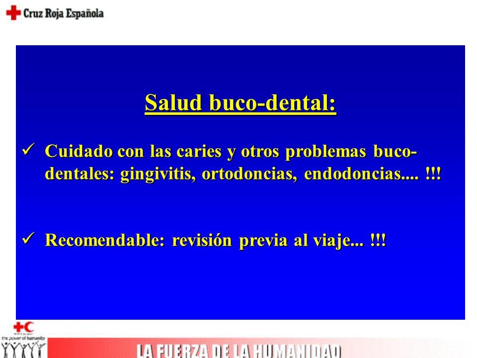Salud buco-dental: Cuidado con las caries y otros problemas buco- dentales: gingivitis, ortodoncias, endodoncias....