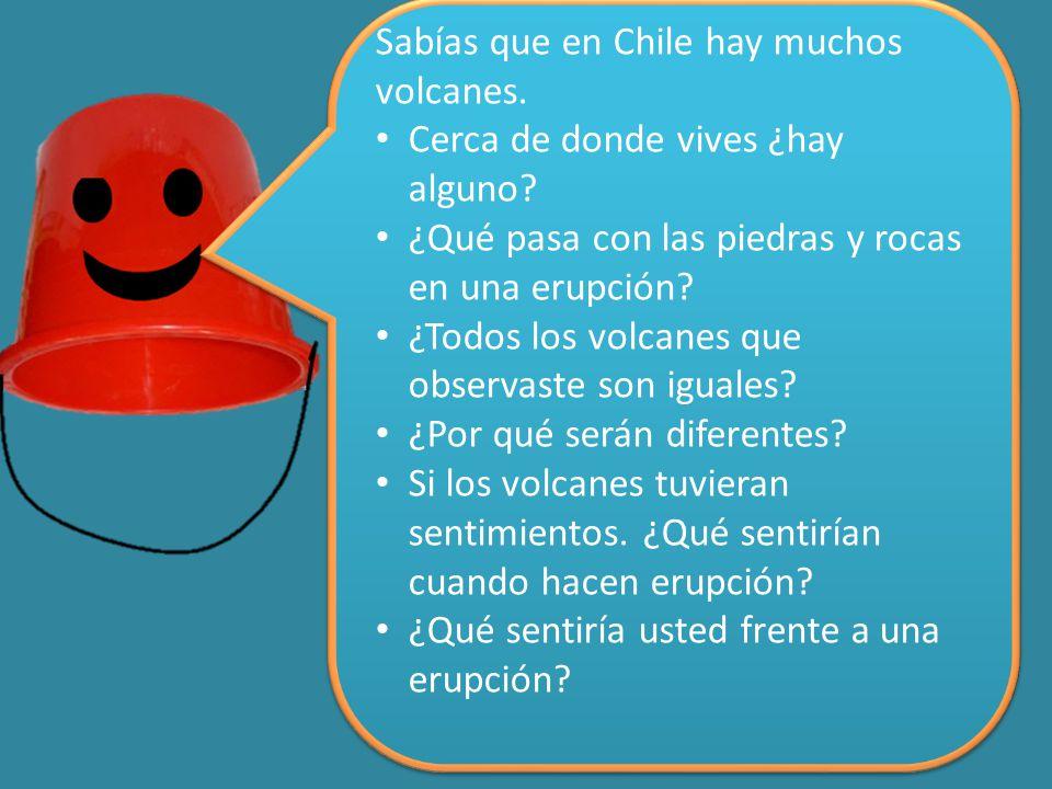 Sabías que en Chile hay muchos volcanes. Cerca de donde vives ¿hay alguno.