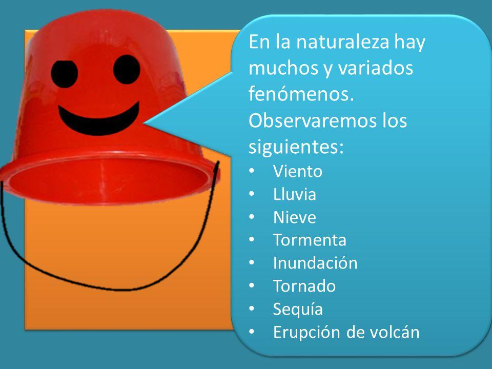 En la naturaleza hay muchos y variados fenómenos.