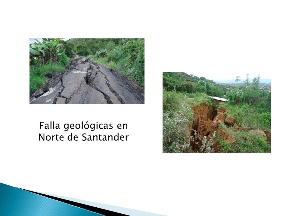 Falla geológicas en Norte de Santander