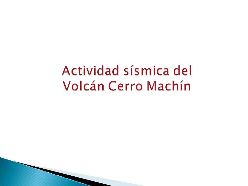 Actividad sísmica del Volcán Cerro Machín