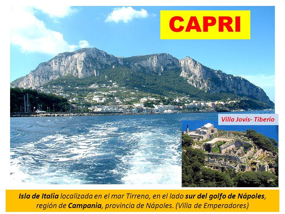 Isla de Italia localizada en el mar Tirreno, en el lado sur del golfo de Nápoles, región de Campania, provincia de Nápoles.