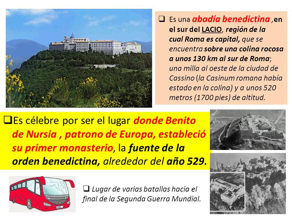  Es célebre por ser el lugar donde Benito de Nursia, patrono de Europa, estableció su primer monasterio, la fuente de la orden benedictina, alrededor del año 529.