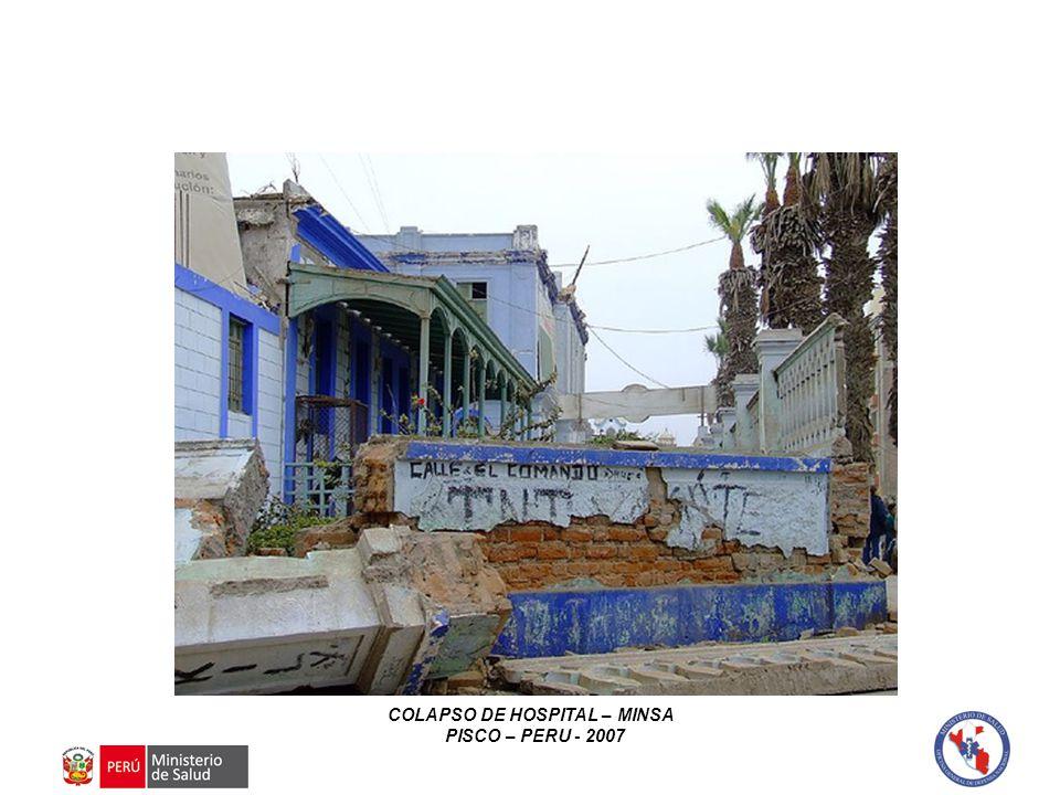 COLAPSO DE HOSPITAL – MINSA PISCO – PERU - 2007