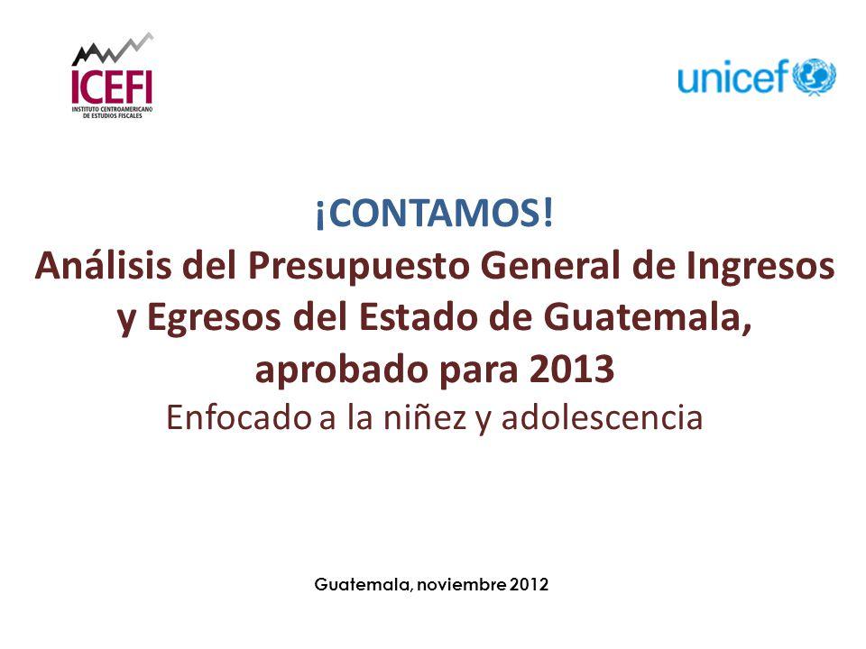 Guatemala, noviembre 2012 ¡CONTAMOS.