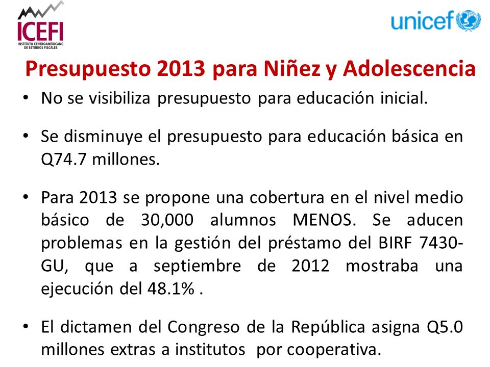 No se visibiliza presupuesto para educación inicial.