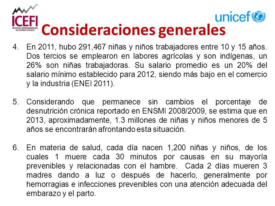 4. En 2011, hubo 291,467 niñas y niños trabajadores entre 10 y 15 años.