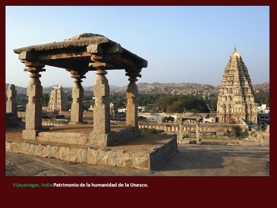 Vijayanagar, India Patrimonio de la humanidad de la Unesco.