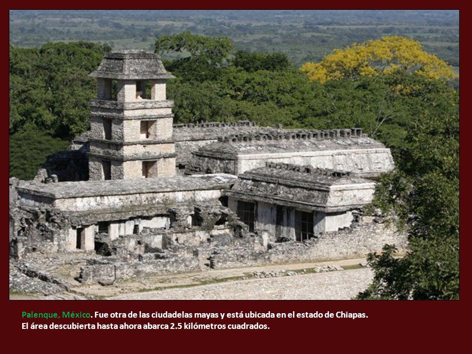 Palenque, México. Fue otra de las ciudadelas mayas y está ubicada en el estado de Chiapas.