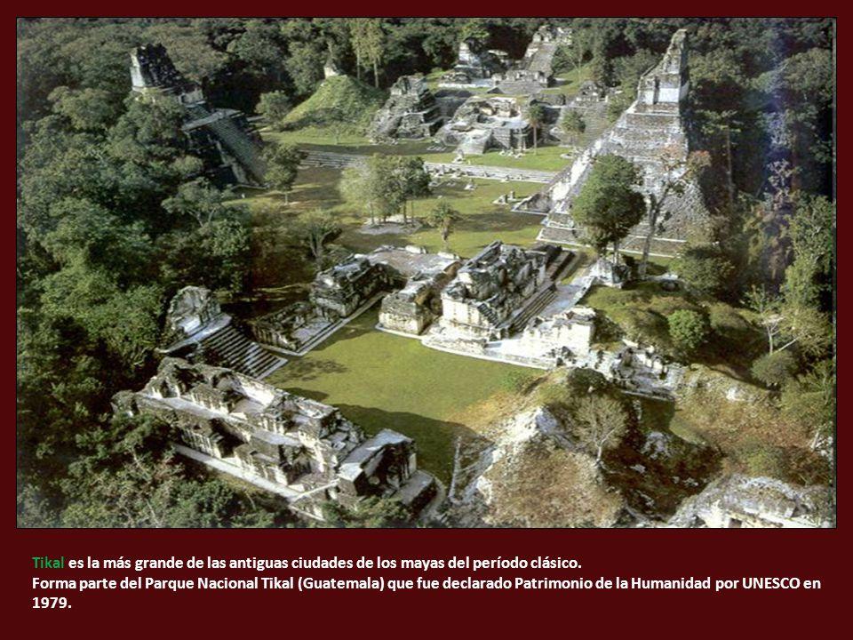 Tikal es la más grande de las antiguas ciudades de los mayas del período clásico.