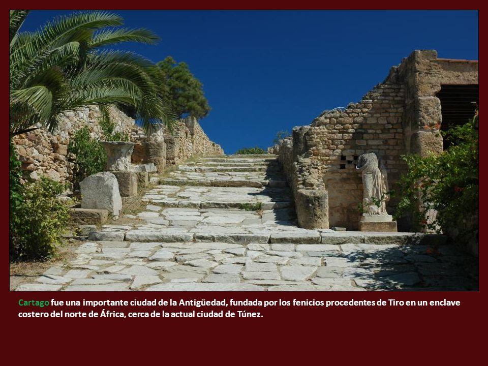 Cartago fue una importante ciudad de la Antigüedad, fundada por los fenicios procedentes de Tiro en un enclave costero del norte de África, cerca de la actual ciudad de Túnez.