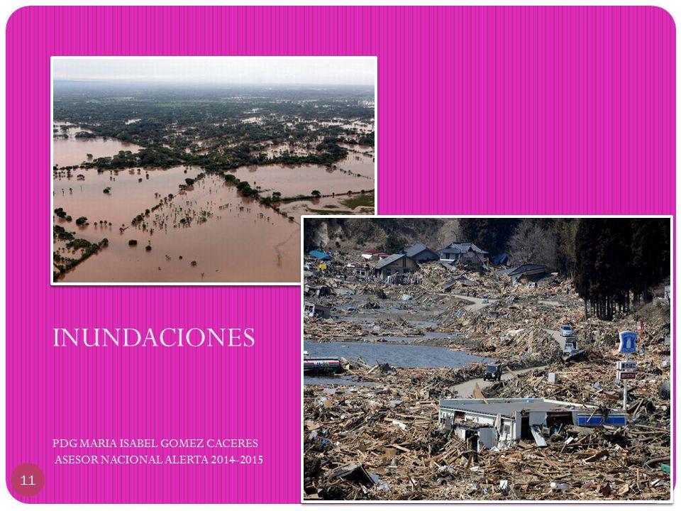 INUNDACIONES PDG MARIA ISABEL GOMEZ CACERES ASESOR NACIONAL ALERTA 2014-2015 11