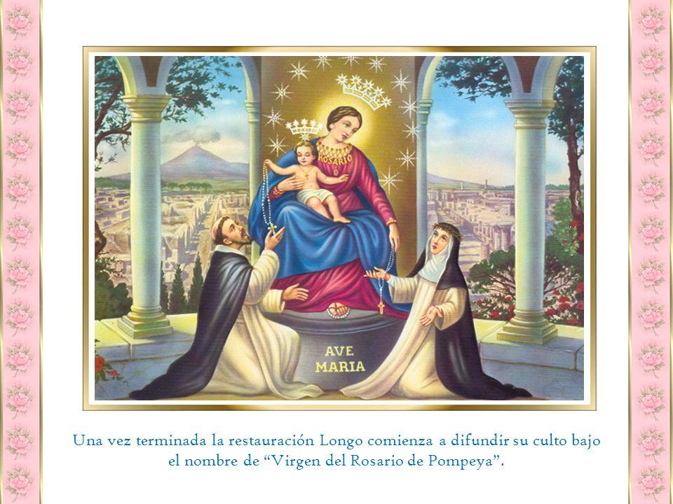La imagen estaba tan deteriorada que un pintor lo restauró y cambió la figura de la Santa Rosa por la de Santa Catalina de Siena, a la usanza de los dominicos.