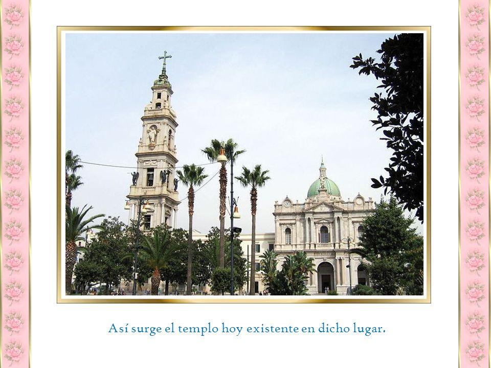 Una vez terminada la restauración Longo comienza a difundir su culto bajo el nombre de Virgen del Rosario de Pompeya .