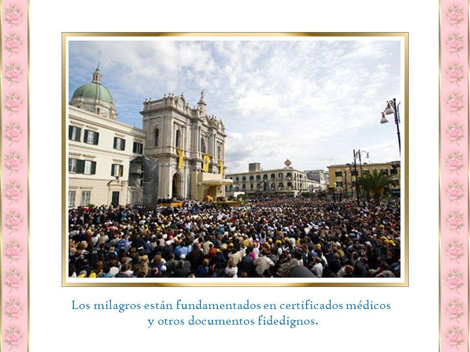 Ese mismo día, en Nápoles, tuvo lugar el primer milagro por intercesión de la Virgen de Pompeya: la niña de doce años Clorida Lucarelli, declarada incurable, sanó completamente de terribles convulsiones epilépticas.