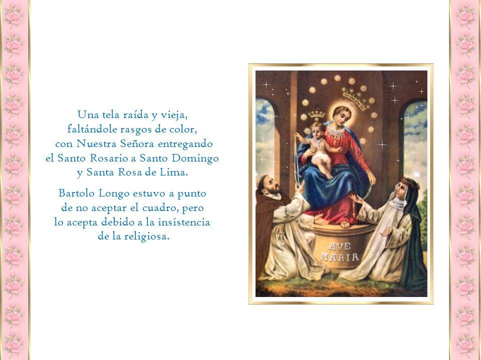 Por casualidad encontró en Vía Toledo al Padre Radente que le sugirió ir al Conservatorio del Rosario de Portamedina y pedir, en su nombre, a Sor María Concetta De Litala un viejo cuadro del Rosario que 10 años atrás se les había confiado.