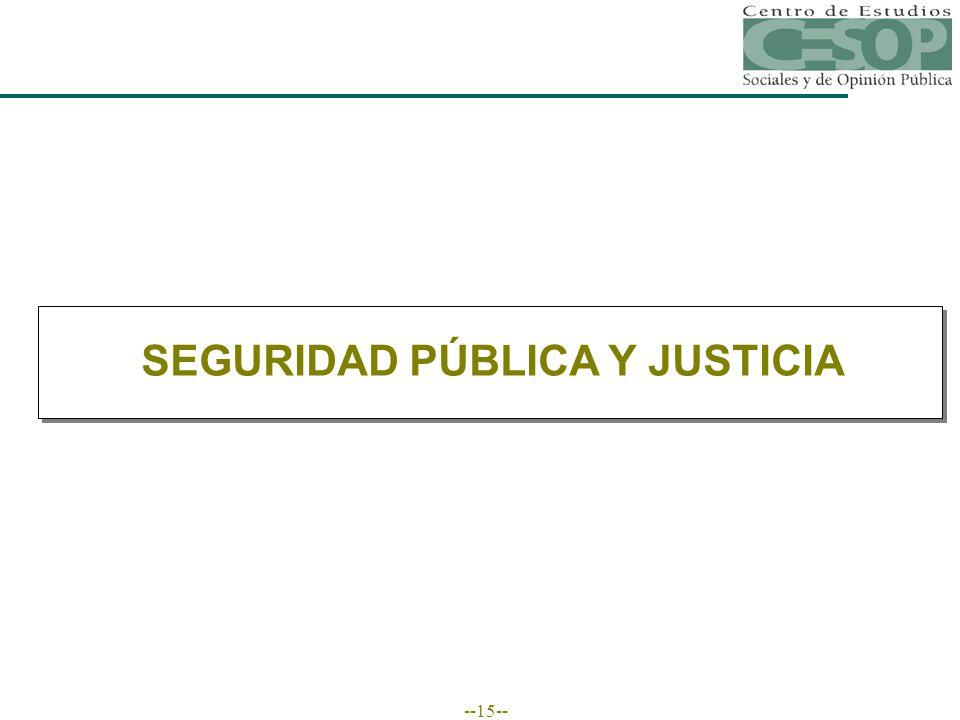 --15-- SEGURIDAD PÚBLICA Y JUSTICIA