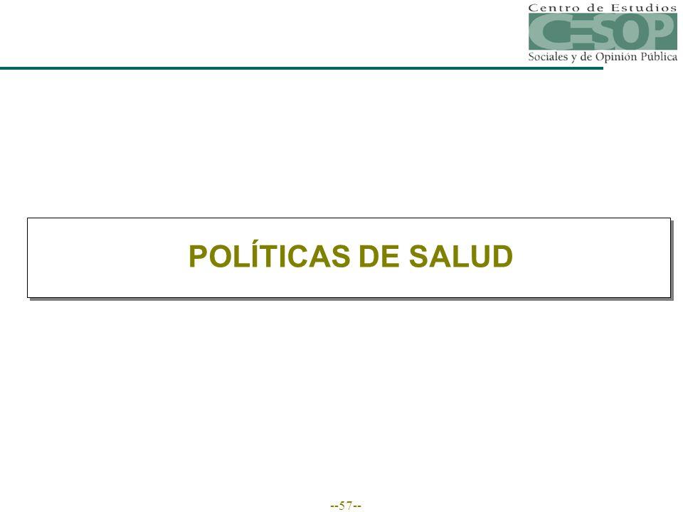 --57-- POLÍTICAS DE SALUD