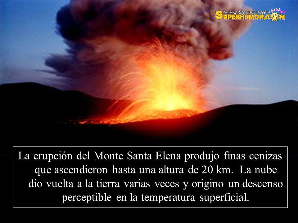 La erupción del Monte Santa Elena produjo finas cenizas que ascendieron hasta una altura de 20 km.