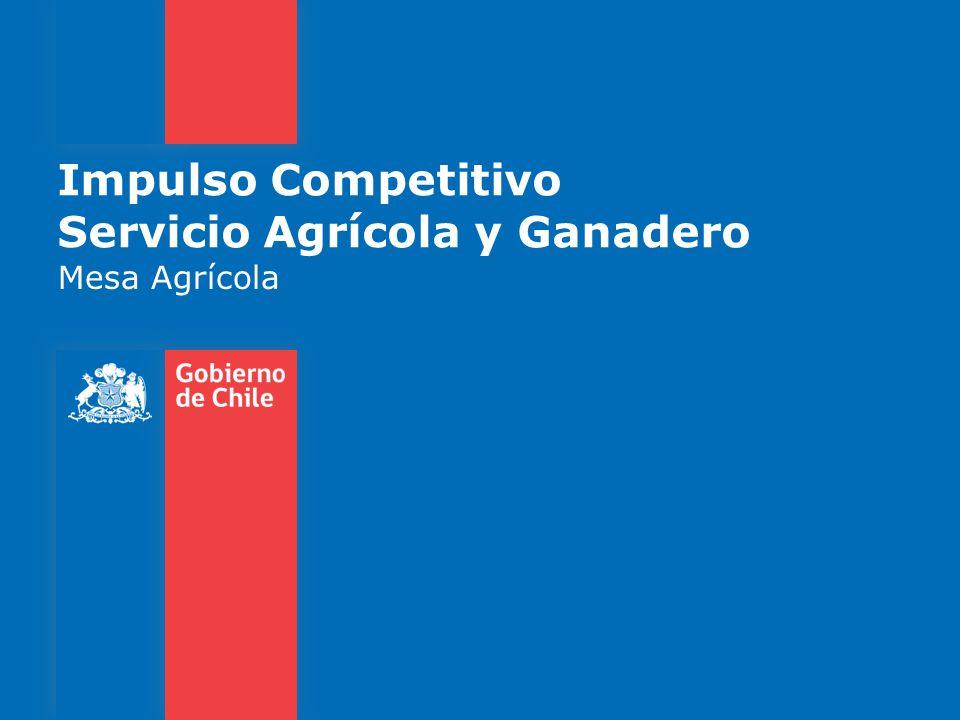 Impulso Competitivo Servicio Agrícola y Ganadero Mesa Agrícola