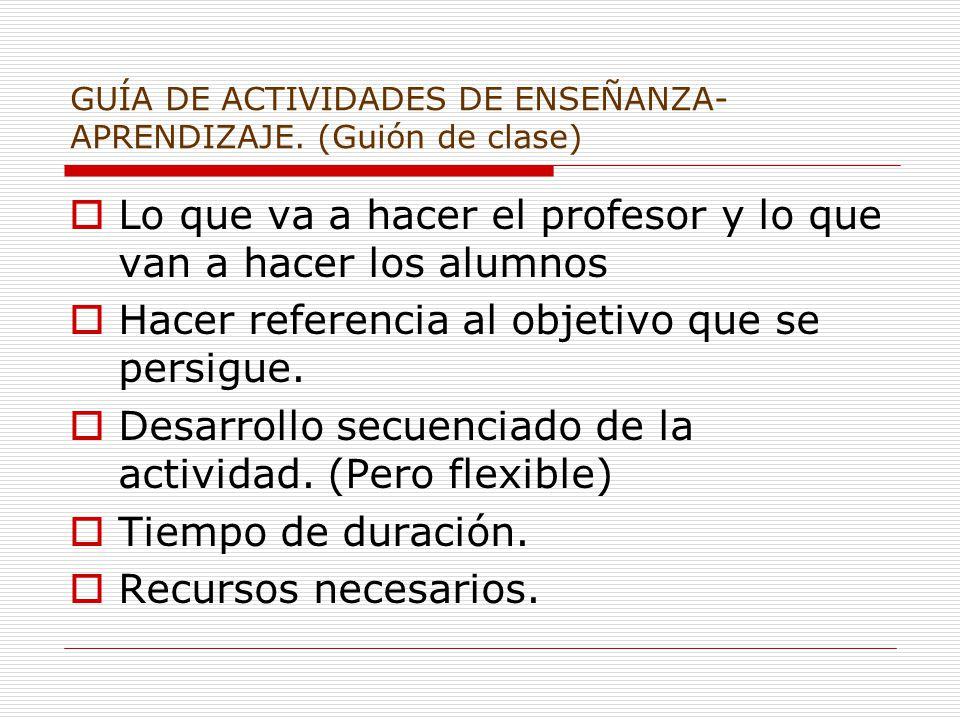 GUÍA DE ACTIVIDADES DE ENSEÑANZA- APRENDIZAJE.