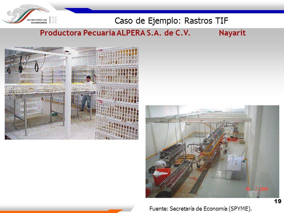19 Caso de Ejemplo: Rastros TIF Productora Pecuaria ALPERA S.A.