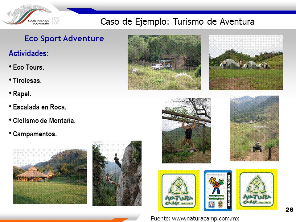 26 Eco Sport Adventure Actividades: Eco Tours. Tirolesas.