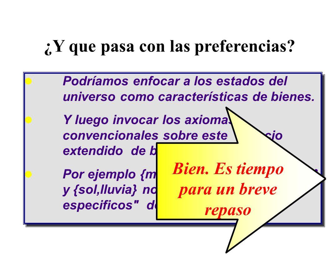 La idea se generaliza; he aqui un caso con tres estados 0 x ( VERDE ) x ( ROJO )  = { Rojo,Azul,Verde } x ( AZUL ) prospectos de certidumbre perfecta