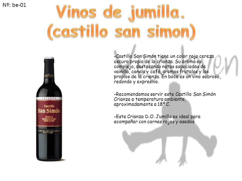 -Castillo San Simón tiene un color rojo cereza oscuro propio de la crianza.