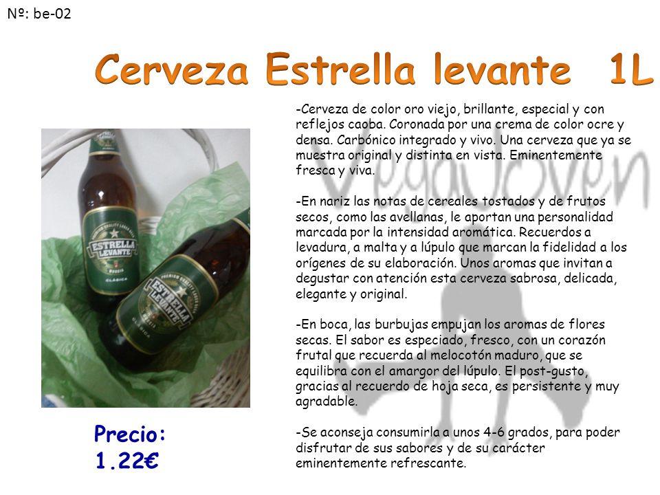 -Cerveza de color oro viejo, brillante, especial y con reflejos caoba.