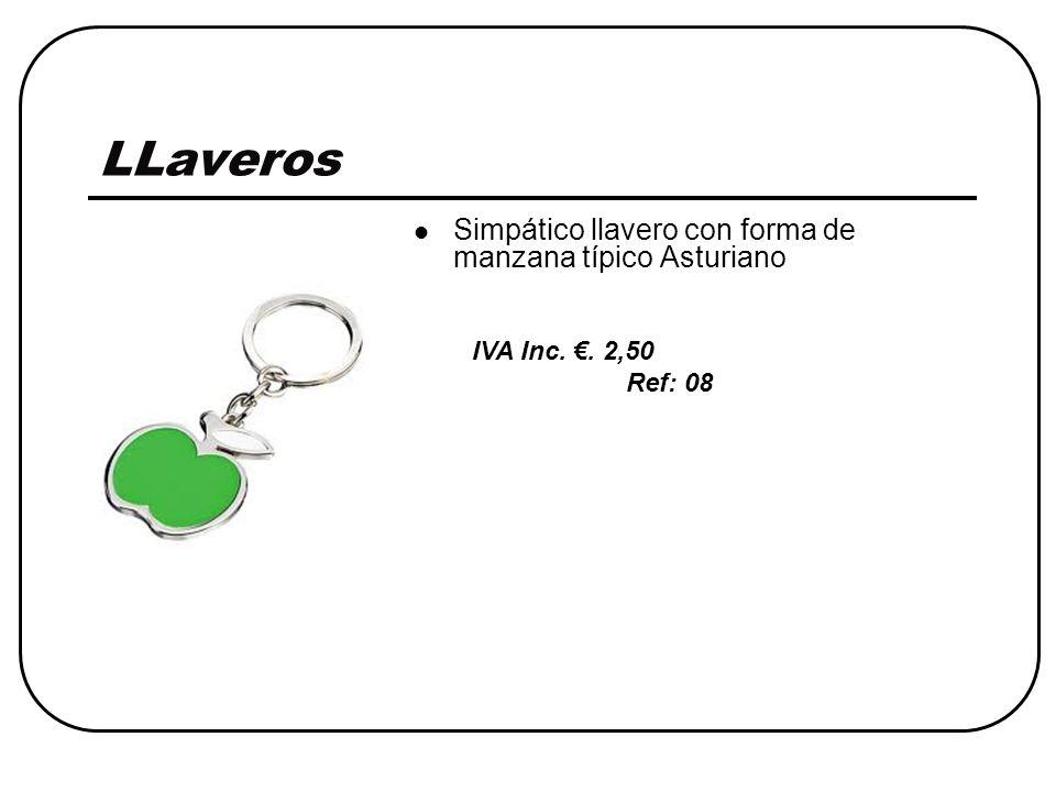 LLaveros Simpático llavero con forma de manzana típico Asturiano IVA Inc. €. 2,50 Ref: 08
