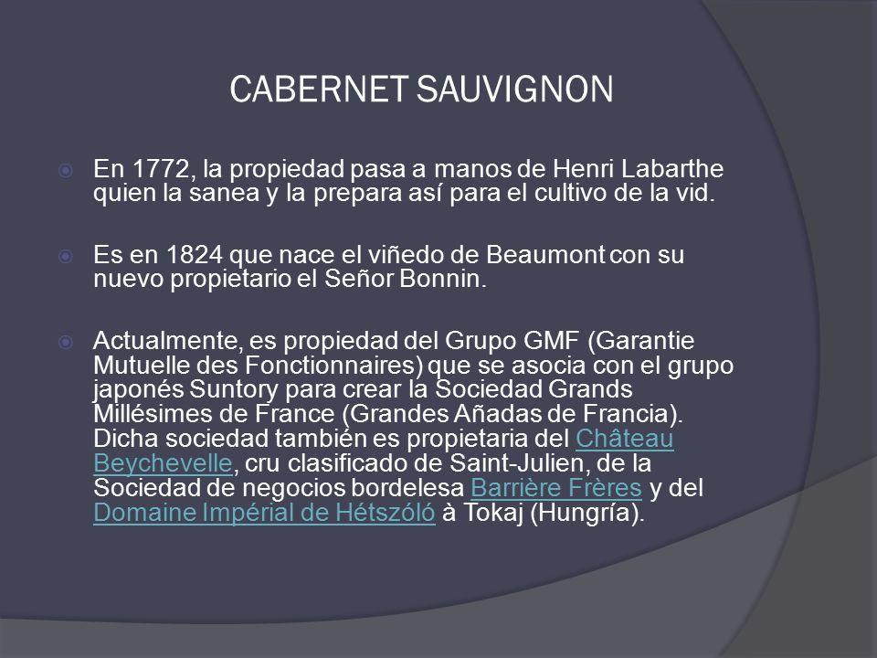  En 1772, la propiedad pasa a manos de Henri Labarthe quien la sanea y la prepara así para el cultivo de la vid.