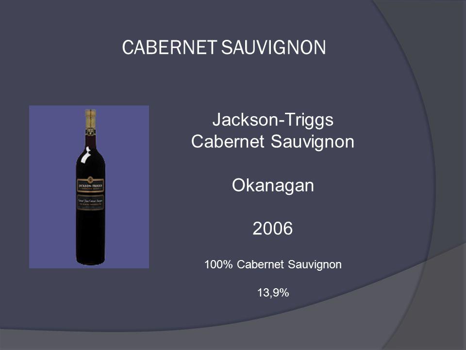 Jackson-Triggs Cabernet Sauvignon Okanagan 2006 100% Cabernet Sauvignon 13,9%