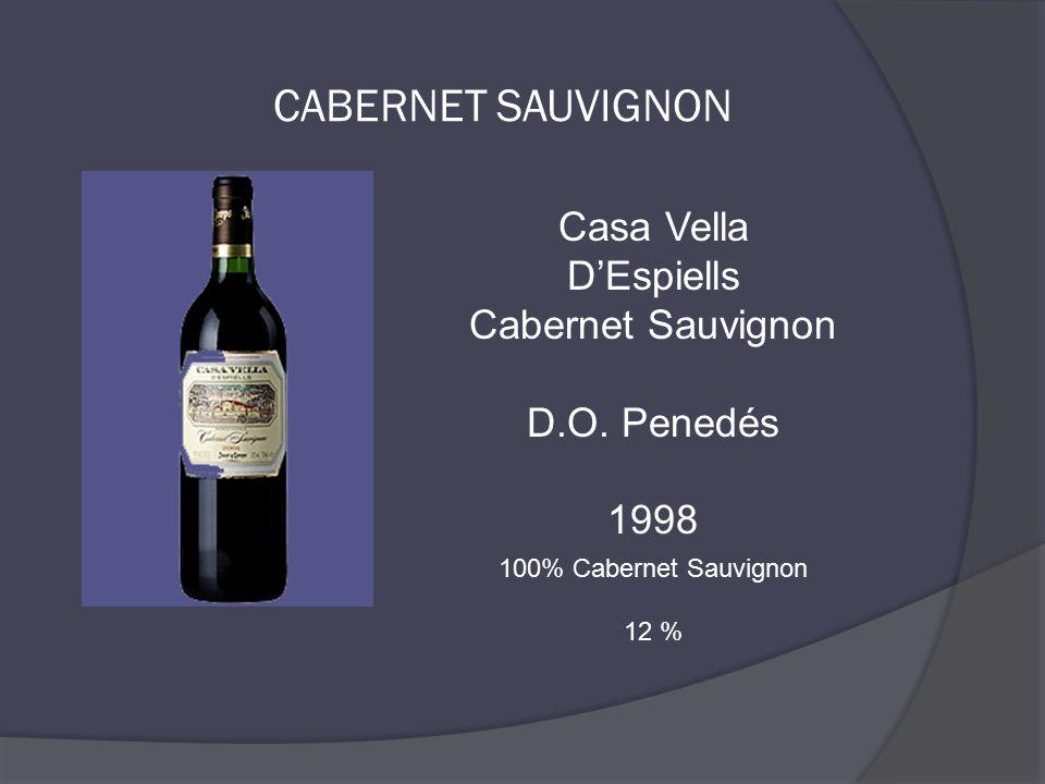 Casa Vella D'Espiells Cabernet Sauvignon D.O. Penedés 1998 100% Cabernet Sauvignon 12 %