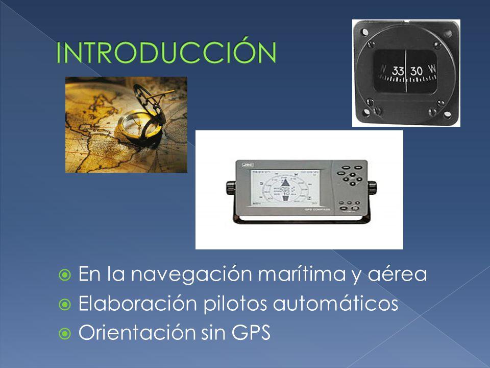  En la navegación marítima y aérea  Elaboración pilotos automáticos  Orientación sin GPS