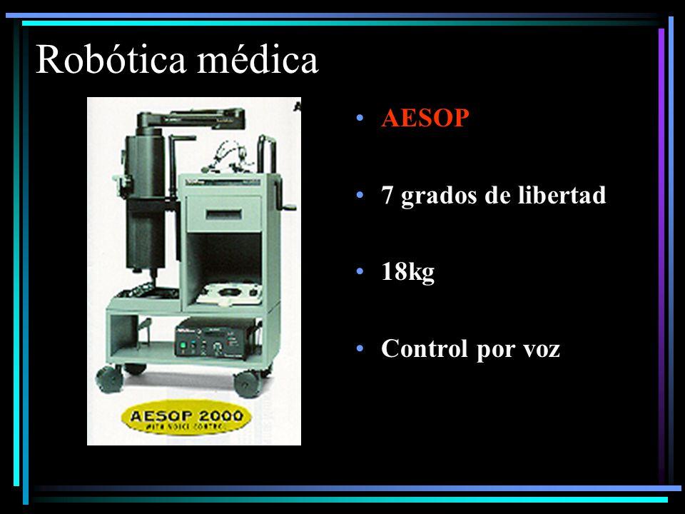 Robótica médica AESOP 7 grados de libertad 18kg Control por voz