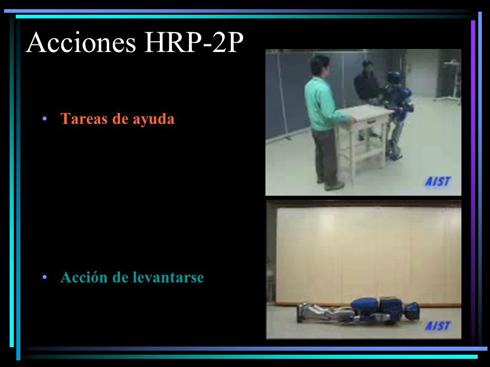 Acciones HRP-2P Tareas de ayuda Acción de levantarse