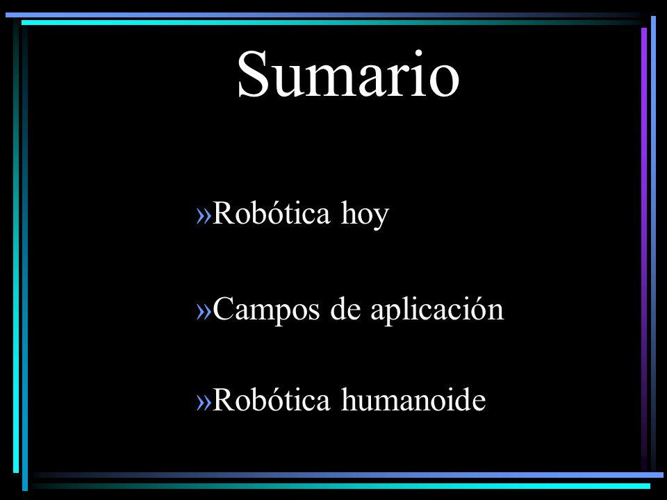 Sumario »Robótica hoy »Campos de aplicación »Robótica humanoide