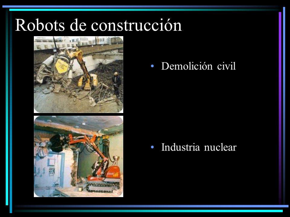 Robots de construcción Demolición civil Industria nuclear