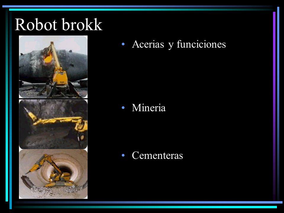 Robot brokk Acerias y funciciones Mineria Cementeras