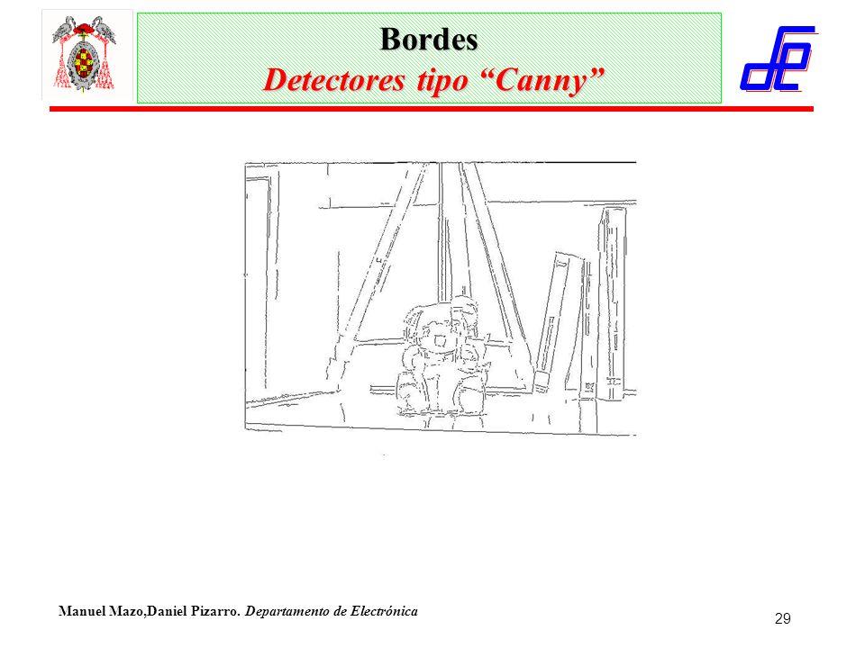 Manuel Mazo,Daniel Pizarro. Departamento de Electrónica 29 Bordes Detectores tipo Canny