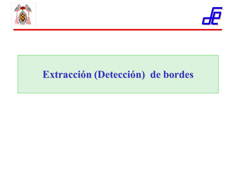 Extracción (Detección) de bordes