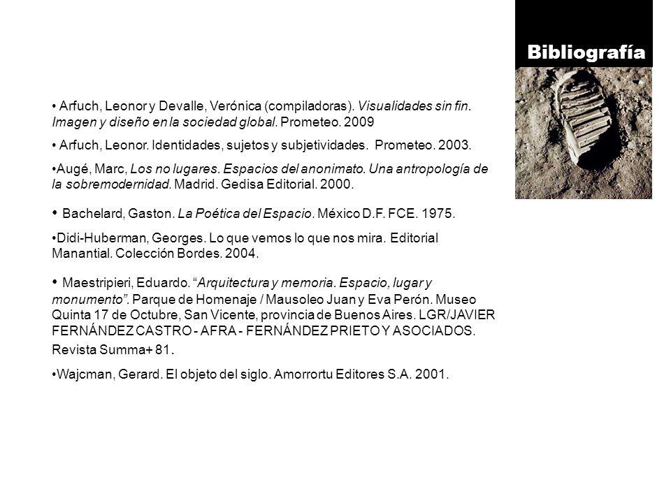 Bibliografía Arfuch, Leonor y Devalle, Verónica (compiladoras).