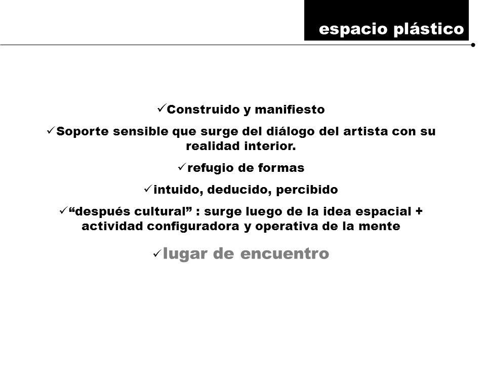 Construido y manifiesto Soporte sensible que surge del diálogo del artista con su realidad interior.