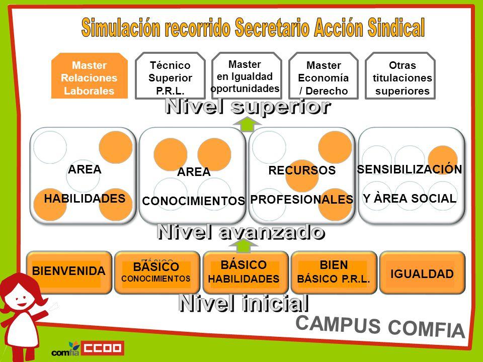 BIENVENIDA BÁSICO CONOCIMIENTO S BÁSICO HABILIDADES BIEN BÁSICO P.R.L.